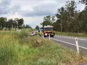 Crash near Glenorchy Straight