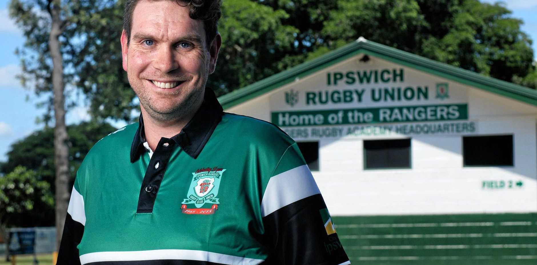 Ipswich Rangers life member Nicholas Pender.