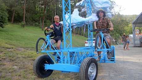 THE improbable mobile street cloud that will keep 2017 Woodford Folk Festival patrons cool from December 27 to January 2 is a typical piece of Woodfordia ingenuity.