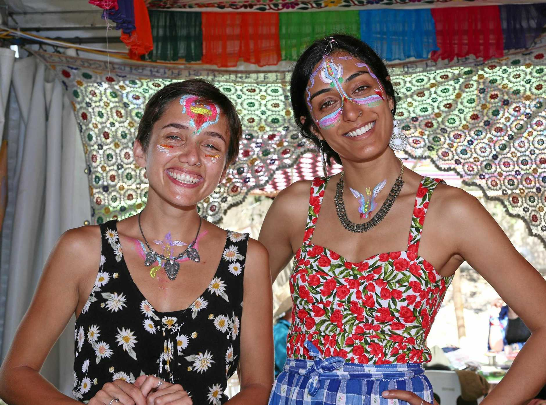 GRACE Dawson and Divya Gordon were dressed to impress at last year's Woodford Folk Festival.