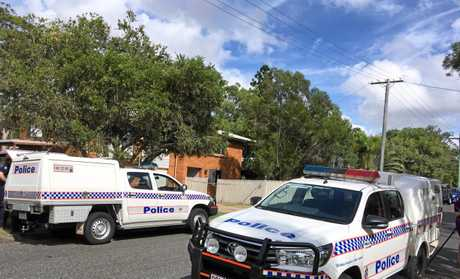 OFFICERS are on scene at a Rockhampton home where a woman was found dead following a 'disturbance' in Mills Ave, Frenchville.