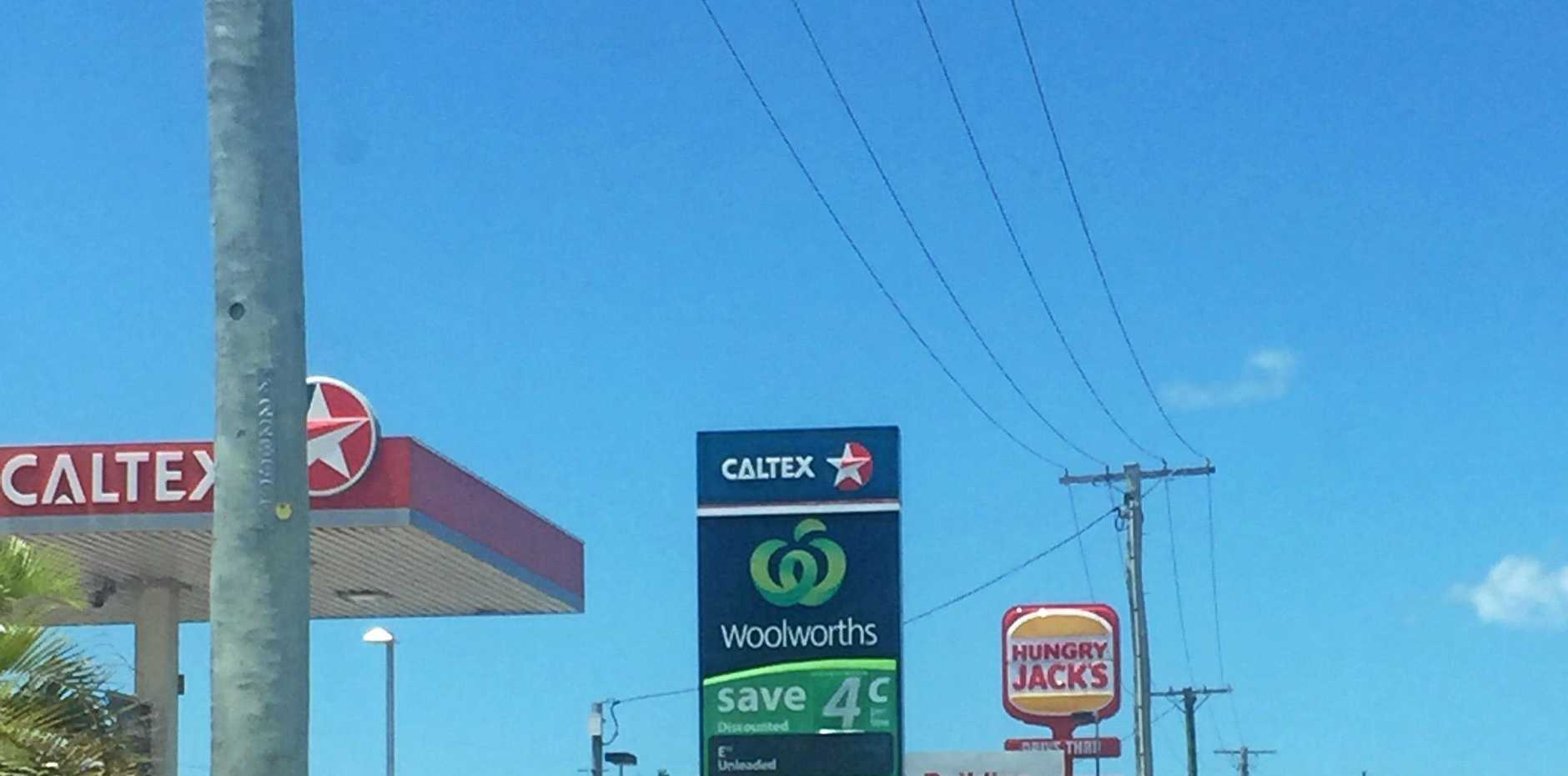 QUICK THINKING: The Woolworths Caltex on Takalvan St, where an electrical fire broke out early this morning.
