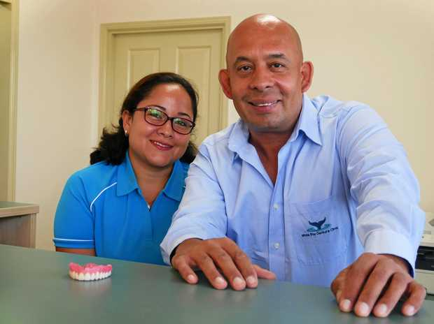 NEW BUSINESS: Wide Bay Denture Clinic owners Victoria and Ivan Miranda.