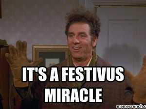 Happy Festivus! Air your grievances at Spotted Cow