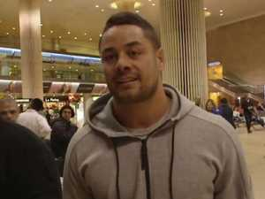 Police usher Hayne through airport