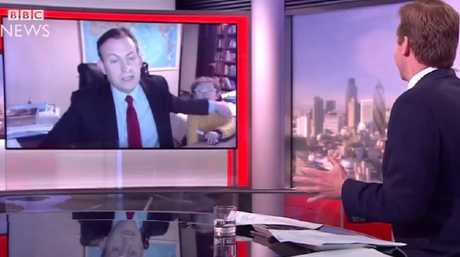 Professor Robert E Kelly managed to keep his cool after his two children interrupted him, live on air, on BBC World News