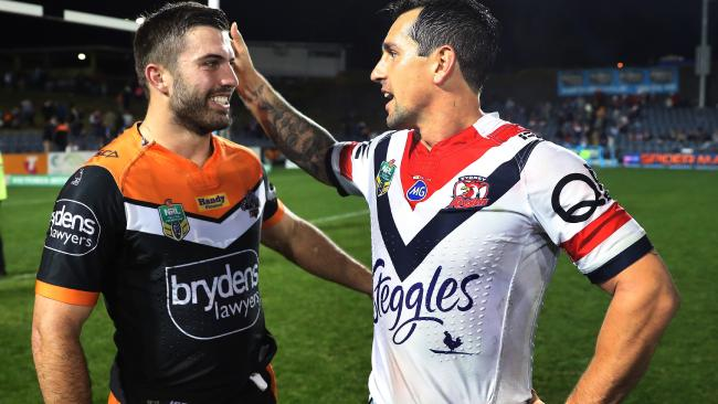 High profile 2018 recruits James Tedesco and Mitchell Pearce.