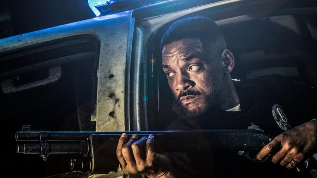 Will Smith in a scene from the Netflix sci-fi cop thriller Bright.
