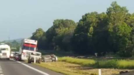 The scene of the crash on the Bruce Highway: Photo Townsville Questions & Answers
