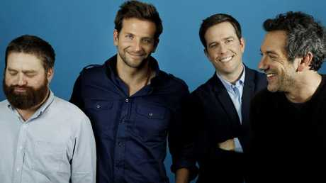 Zach Galifianakis, Bradley Cooper, Ed Helms and director Todd Phillips in 2011