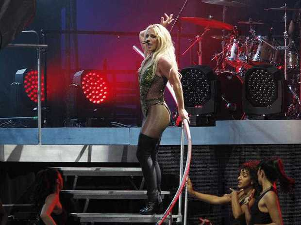 Famed U.S. singer Britney Spears performs during her concert in Taipei, Taiwan, Tuesday, June 13, 2017.