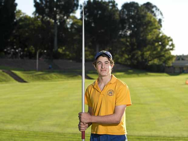 TOP SHOT: Former Greenlands student Angus Davey claimed gold in his age division at the national titles for javelin.
