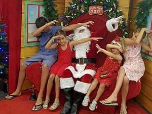 Bronco's Santa act is down pat
