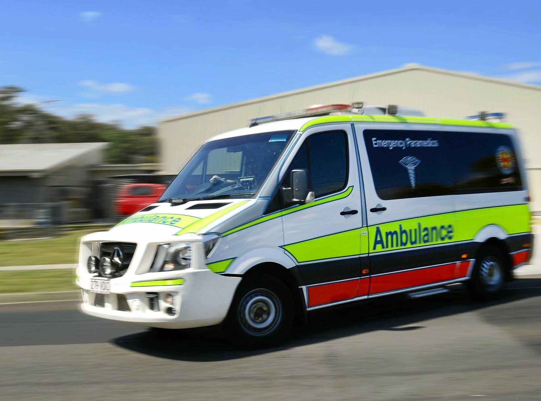 A young boy was hospitalised after being pulled from a pool at Mudjimba.