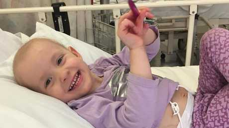 Chloe remained stoic throughout the treatment, her mum said.