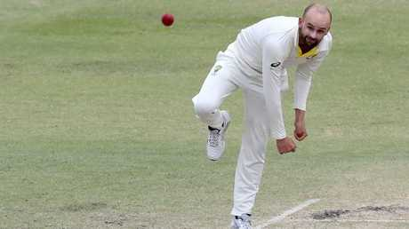 Nathan Lyon in action during the third Test. Picture: AAP Images
