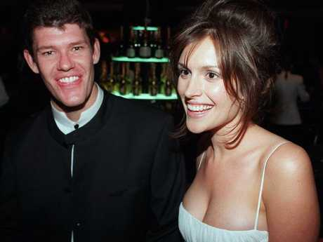 James Packer with Kate Fischer at the Logie Awards.