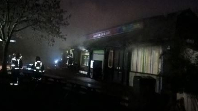 Fire broke out at the London Zoo. Picture: Supplied