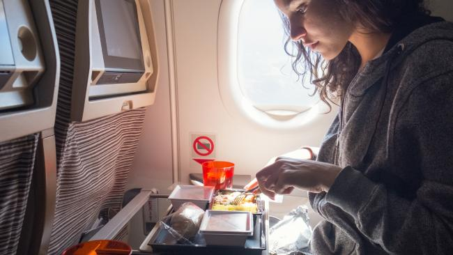 There's a good reason why you shouldn't eat food on a plane.