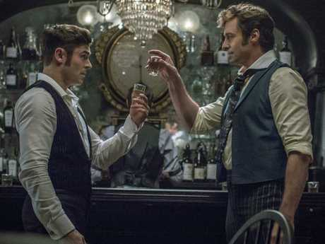 Zac Efron, left, and Hugh Jackman make a formidable team in The Greatest Showman.