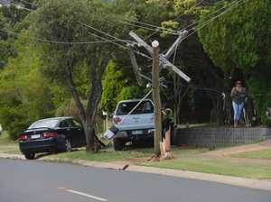 Ergon to replace power pole after it snaps in crash