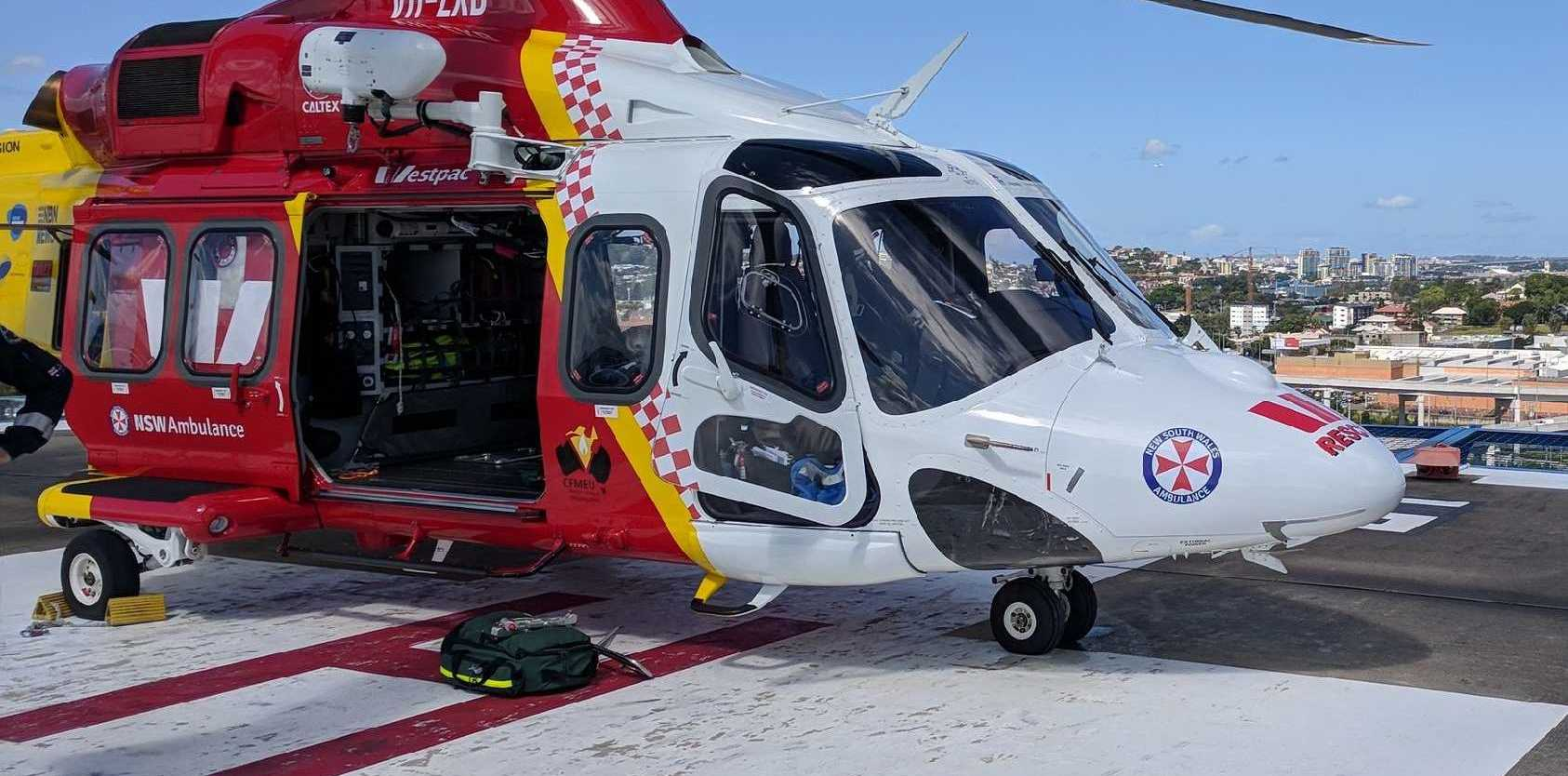 Westpac Rescue Helicopter Service airlifted a man to Brisbane today.