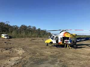 Man seriously injured in two-storey fall airlifted to Rocky