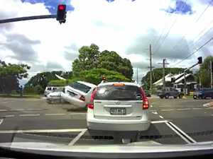Footage shows heavy impact at Coast intersection