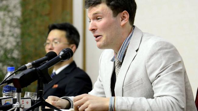 February 29, 2016: US student Otto Frederick Warmbier was arrested for committing hostile acts against North Korea.