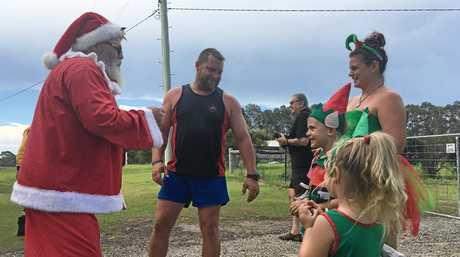 Santa visits Lawrence