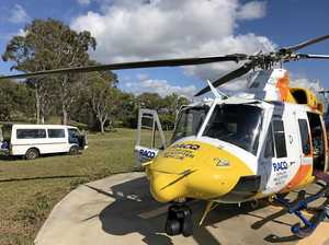 Man airlifted after fall from vehicle in Central Queensland