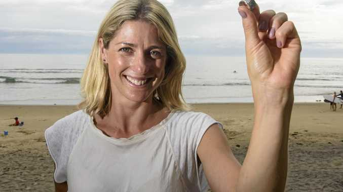 CARING: Caroline Carr with her engagement ring that was found two days after being lost in the surf at Yamba.