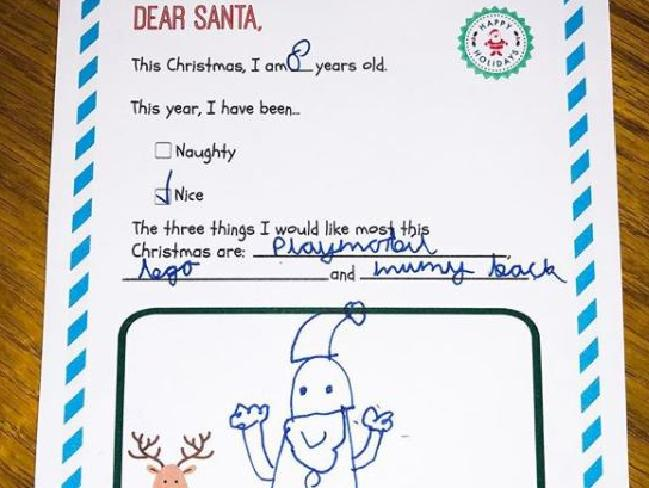 A TV presenter has revealed the heartbreaking request his young son had for Santa