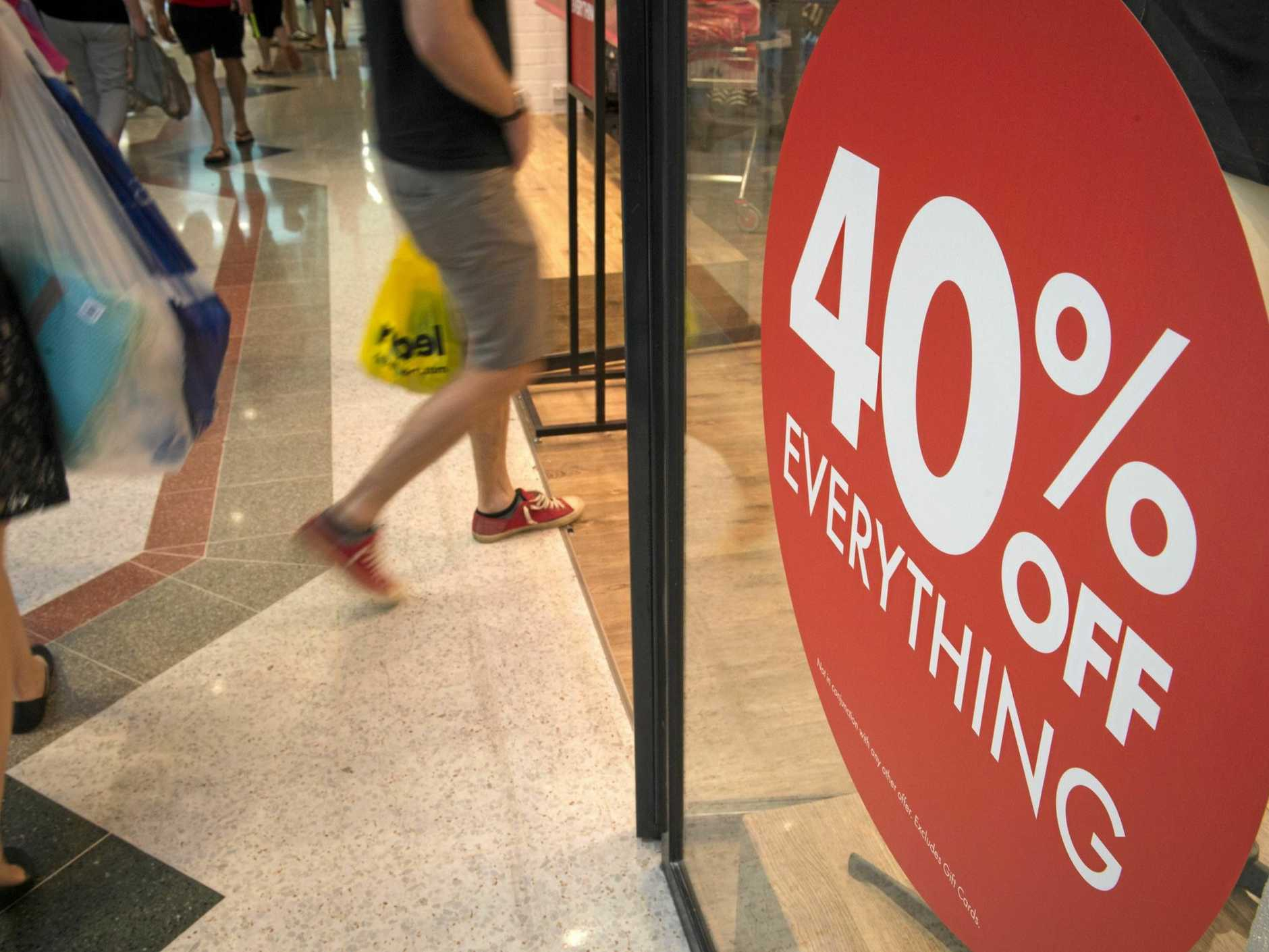 BARGAIN: Shoppers are expected to be out in force today to take advantage of massive discounts.
