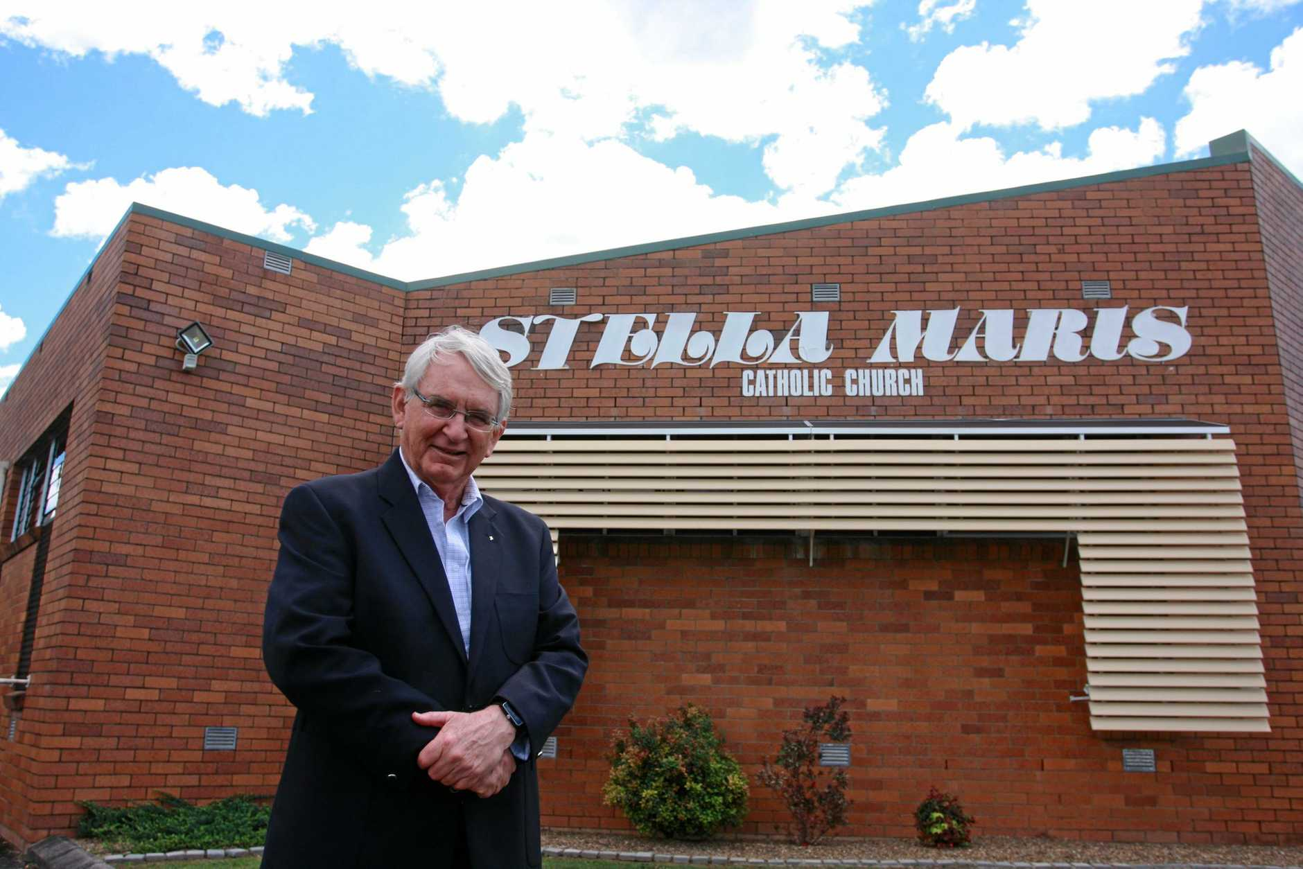 Maroochydore's Stella Maris Catholic Church priest Father Joe Duffy reveals plans for a 120-bed aged care facility and new church on the existing Stella Maris site.   Photo Kristy Muir / Sunshine Coast Daily