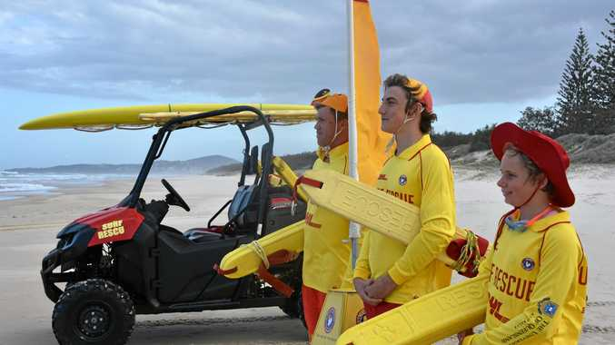 Lifesavers at Peregian Beach.
