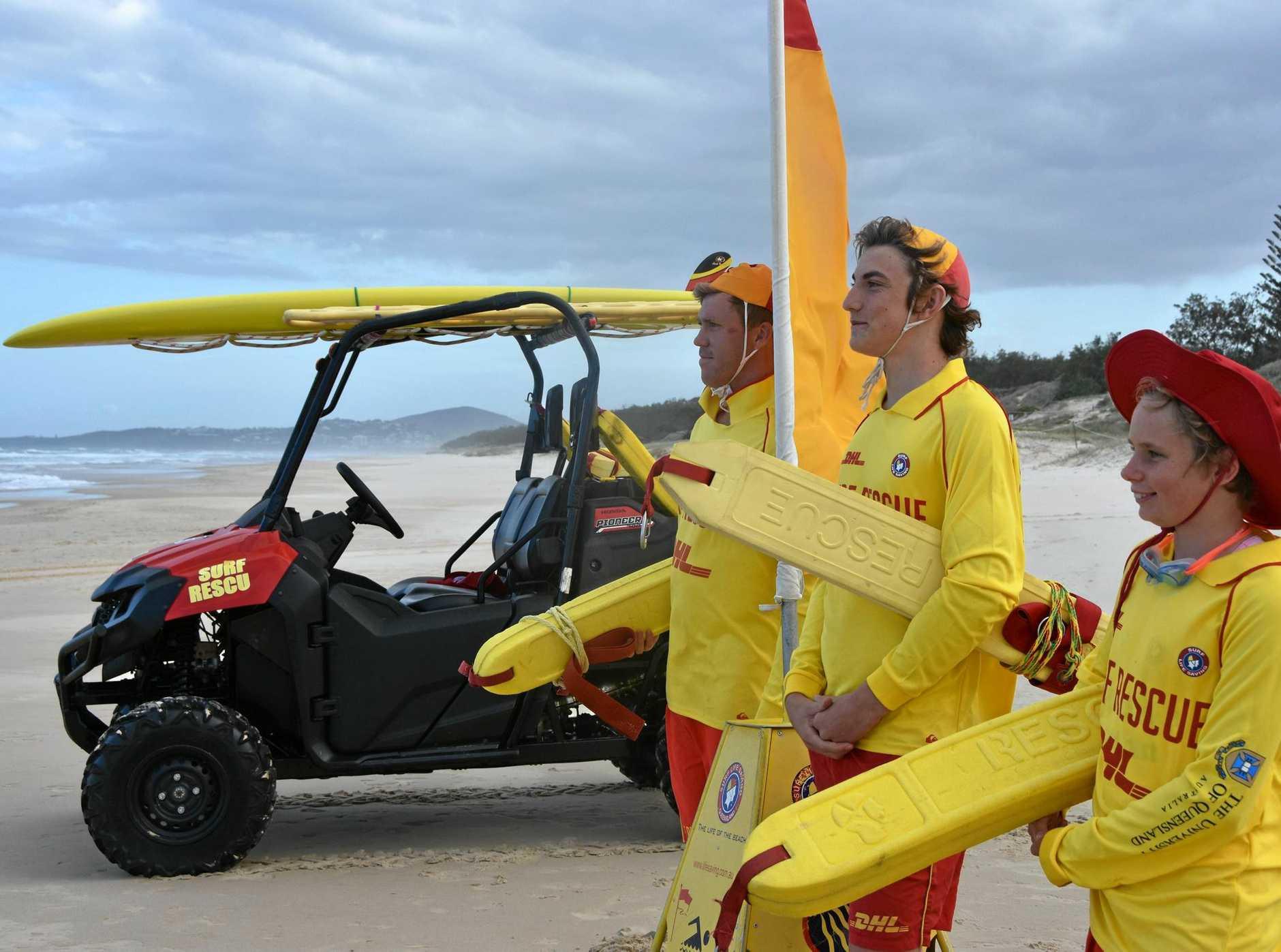 Lifesavers at Peregian Beach.