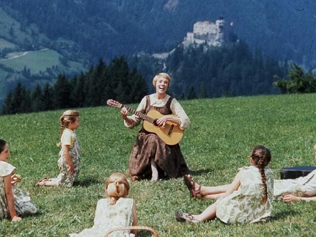 Actor Julie Andrews in the 1965 film 'The Sound Of Music'. Picture: Supplied