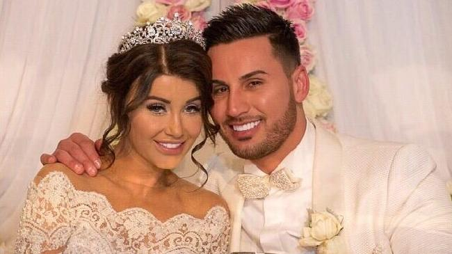 Facebook picture of Salim Mehajer and his wife Aysha on their wedding day