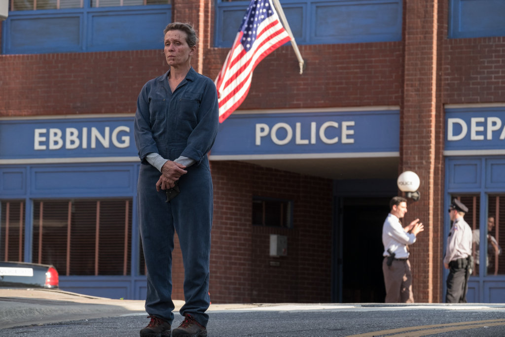 Frances McDormand in a scene from Three Billboards Outside Ebbing, Missouri.