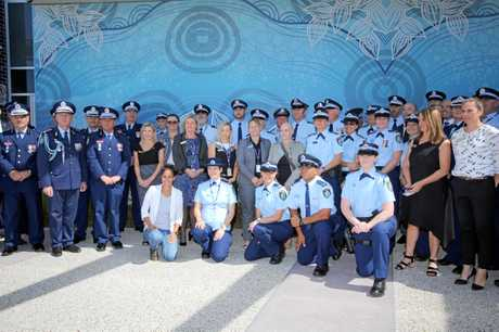Tweed/Byron LAC police at the opening of the new Tweed Heads Police Station on Friday, September 8.