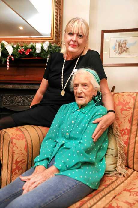 Maude Mainberger with Karen Secombe.