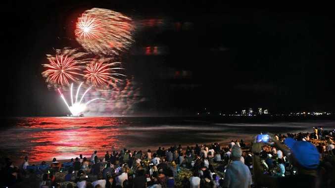 New Year's Eve 2016 at Mooloolaba Beach.