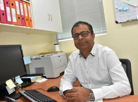 NEW MAN IN CHARGE: Dr Dilip Kumar is clinical director of the Gladstone Hospital emergency department.