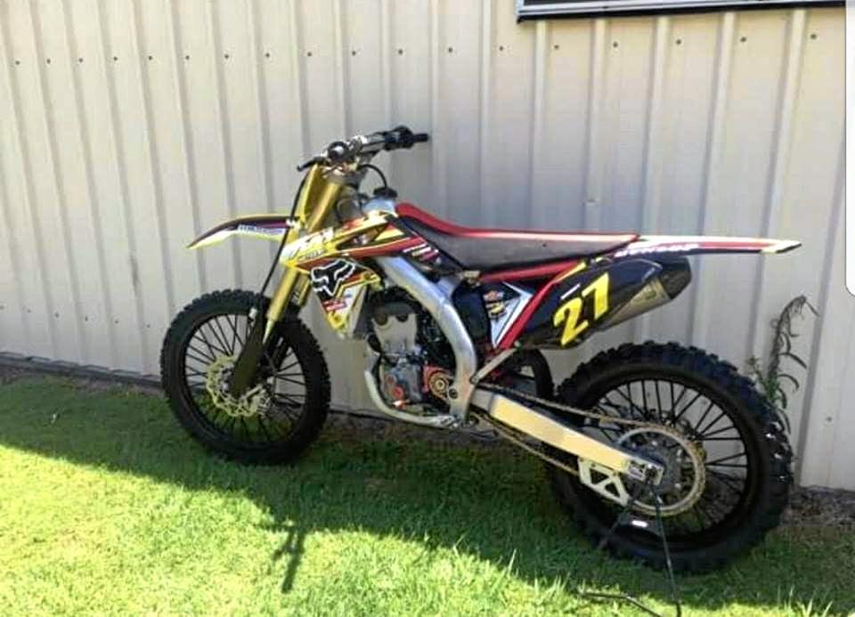 This 2013 RMZ250 Suzuki was stolen from Chilcotts Grass recently.