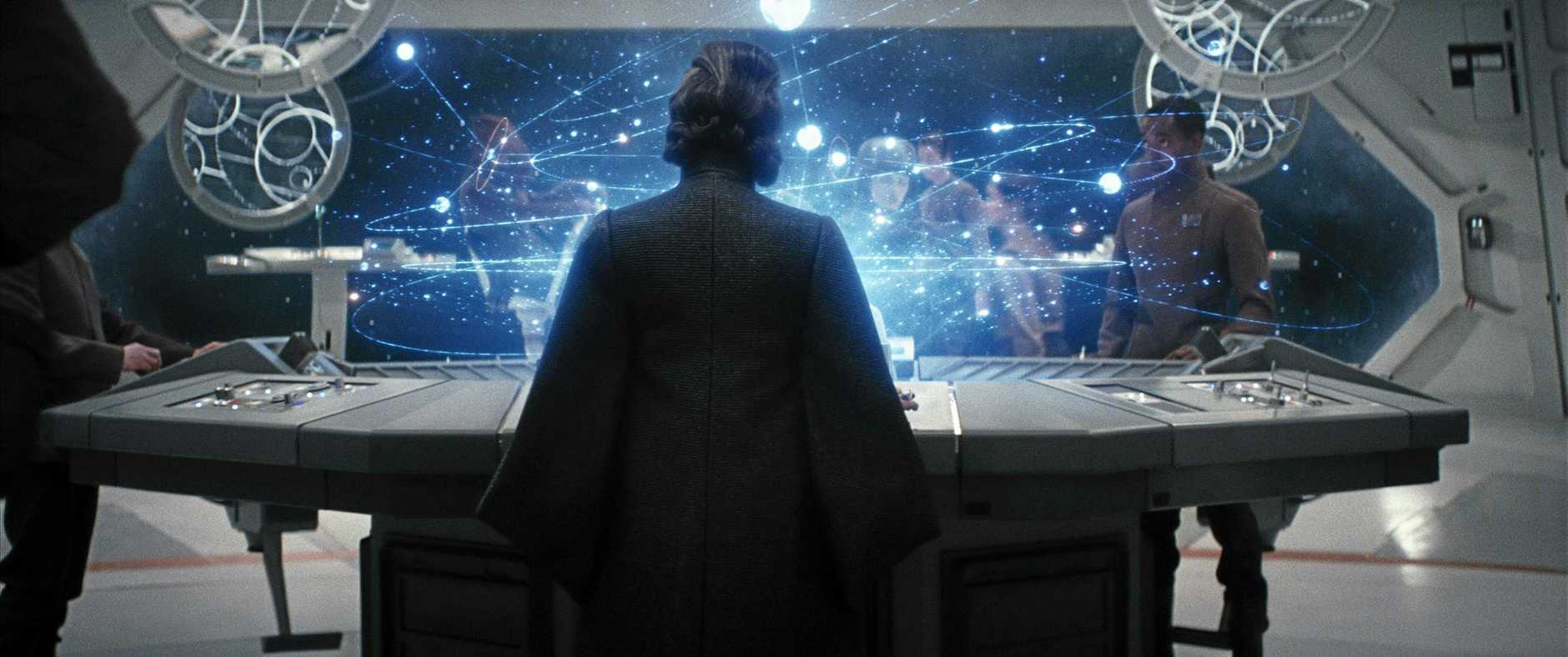 A scene from the movie Star Wars: The Last Jedi. Supplied by Disney.