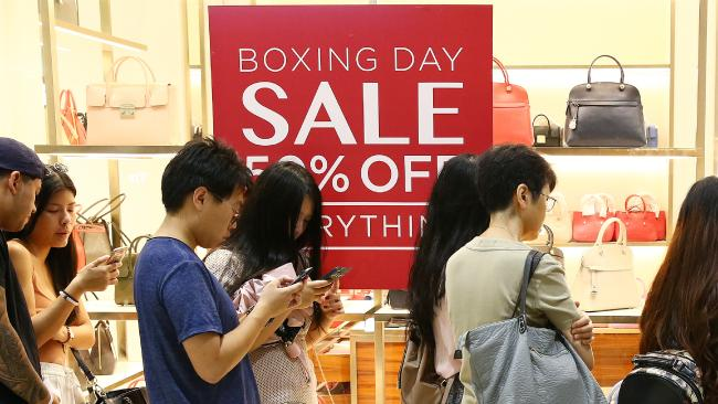 Shoppers were predicted to spend up to $2.4 billion at Boxing Day sales this year. Picture: Liam Kidston