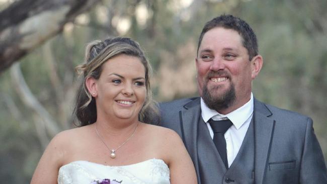 Slain father Nick Bruton on his wedding day.