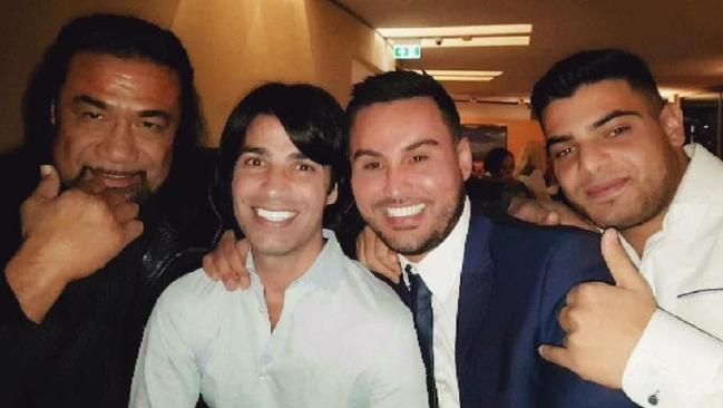 An undated photo from Salim Mehajer's Facebook account showing him with Tongan Sam and Fadi Ibrahim