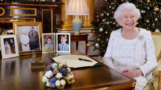 The Queen welcomed Meghan Markle into the family during her Christmas address. Picture: AFP/John Stillwell